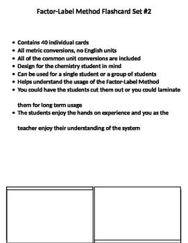 Factor-Label Method Flashcards2