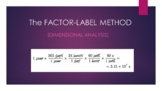 Factor-Label Method PowerPoint (for General Chemistry)