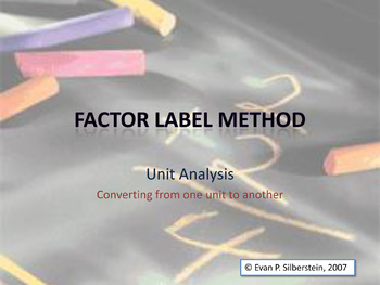 Factor Label Method Video Lesson