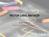 Factor Label Method Video Lesson