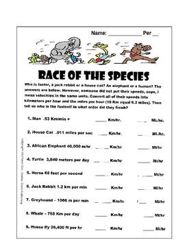 Factor Label: Race of the Species