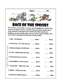 Race of the Species: Metric System Factor Label