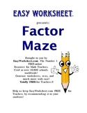 Factor Maze -- Helps students factor polynomials!
