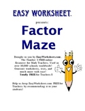 Factor Maze (Shorter Version) -- Helps students factor polynomials!