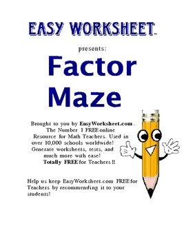 Factor Maze (Shorter Version) -- Helps students factor polynomials!