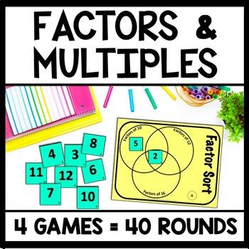 Factor & Multiple Game Bundle, 4th-5th Grade Number Sense Games, 38 Total!