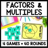 Factor & Multiple 4-Game Bundle, Fourth Grade Number Sense Games