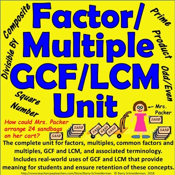 Factor / Multiple / Greatest Common Factor / Least Common Multiple Unit