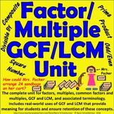 Factor / Multiple / Greatest Common Factor / Least Common