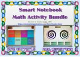 Factor Multiple Tiles/ Prime Composite Vortex SMART Notebook Activity Bundle