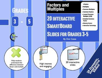Factor & Multiple Warm-Ups: 20 Interactive SmartBoard Activities for Grades 3-5