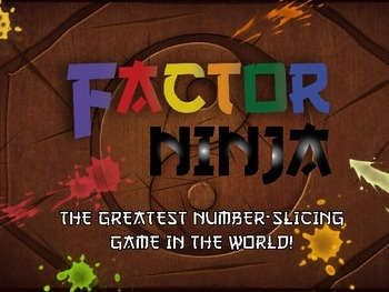 Factor Ninja: Middle School Game for Finding Factors of Numbers