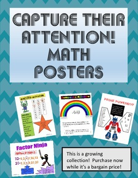 Capture Their Attention Math Posters-Factor Ninja is included!