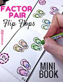 Factor Pair Flip Flops Printable Mini-Book (In Spanish, too!)