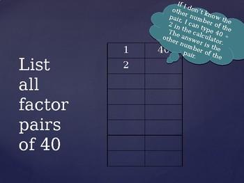 Factor Pair Notes