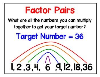 Factor Pairs Poster By Jennie Kottmeier Teachers Pay