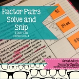 Factor Pairs Solve and Snip® Interactive Word Problems