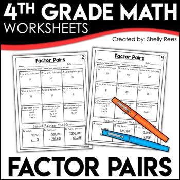 Factor Pairs Worksheets