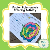 Factor Polynomials Coloring Activity