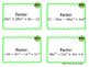 Factor Polynomials - GCF Task Cards