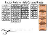 Factor Polynomials Digital Cut and Paste