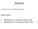 Factor Poster