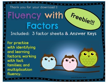 Factor Practice for Multiplication and Division Fluency