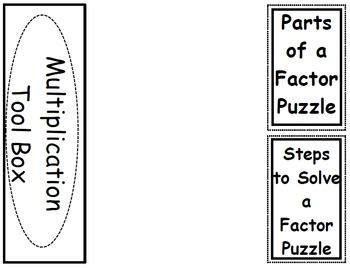 Factor Puzzle Foldable (Flippable)