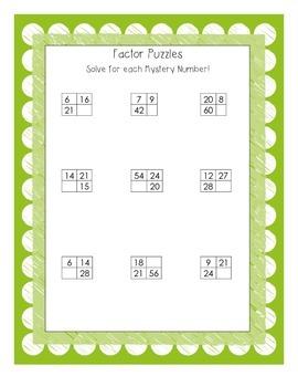 Factor Puzzles