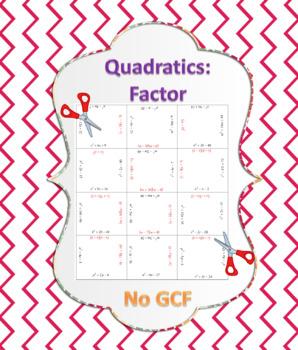 Factor Quadratic Expressions Puzzle 1