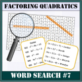 Factoring Quadratics Word Search #7
