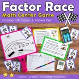 Factor Race Game with Finding Factors Lesson (includes QR Codes)