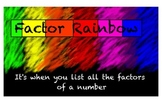 Factor Rainbow SMART Lesson