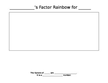 Factor Rainbow Template