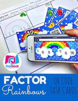 Factor Rainbows Activity Bundle