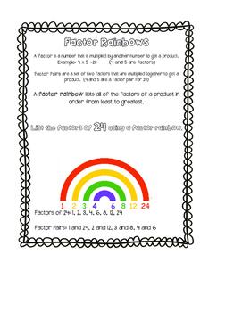 Factor Rainbows (Factor Pairs)