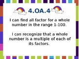 Factor Rainbows  and Multiples PowerPoint -  EDITABLE