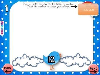 Factor Rainbows PowerPoint Game