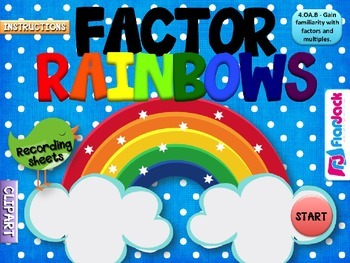 Factor Rainbows PowerPoint Game