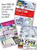 Factor Rainbows QR Code Math Worksheet FREEBIE (Spanish, too)