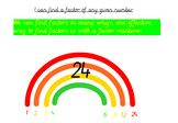 Factor Rainbows Whole Lesson Interactive Whiteboard Resource