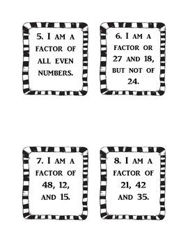 Factor Riddles