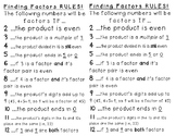 Factor Rules Printable Anchor Chart