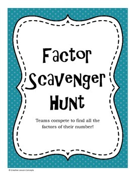 Factor Scavenger Hunt
