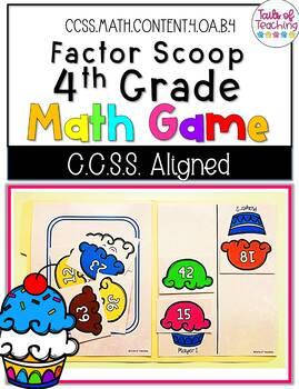 Factor Scoop Math Game Grade 4 File Folder Game