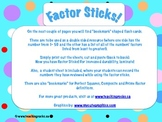 Factor Sticks: Math Center to Review Factors