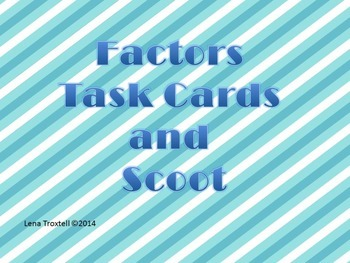Factor (Task Card/Scoot) Preview