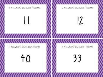 Factor Task Cards/ Tarjetas de Práctica de Factores