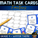 Winter Math - Factor Task Cards (4th Grade)