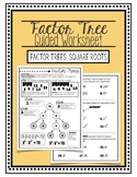 Factor Tree Guided Worksheet